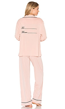 From Me to You Pajama Set in Dusty Rose