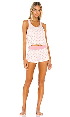 Petite Hearts Britney Sleep Set Wildfox Couture $150