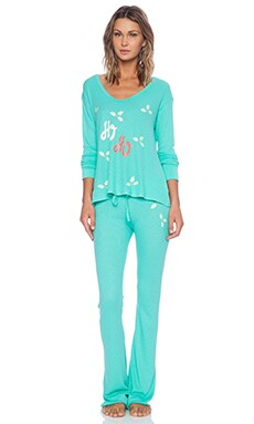 Wildfox Couture Polar PJ Set in Winter Green