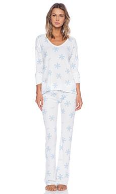 Wildfox Couture Polar PJ Set in Snowflake Print