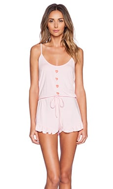 Wildfox Couture Knit Romper in Pink