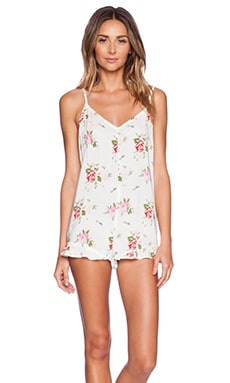 Wildfox Couture Ruffle Romper in Lovers Bouquet
