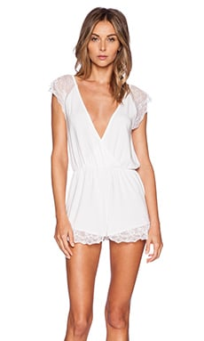Wildfox Couture Intimates To Have and To Hold Romper in White Wedding