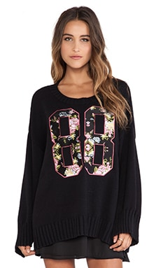 Wildfox Couture 88 Chunky Sweater in Clean Black