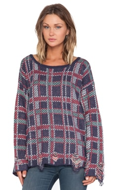 Wildfox Couture All Over Plaid Pullover in Multi