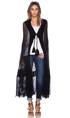 Wildfox Couture Fringe Cardigan in Clean Black