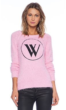 Wildfox Couture White Label WS Logo Sweater in Dream House