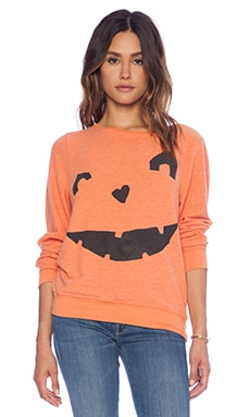 Wildfox Couture Happy As A Pumpkin Sweater in Pumpkin