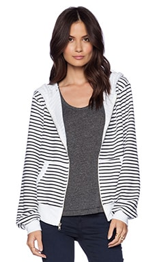 Wildfox Couture Vintage Varsity Stripe Hoodie in Black Stripe