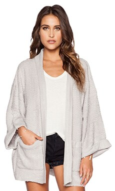 Wildfox Couture Basic Cardigan in Smoky Bear