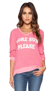 Wildfox Couture More Sun Please Pullover in Acid Pink