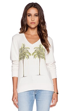 Wildfox Couture Twin Palms Pullover in Vintage Lace