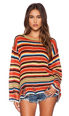 Wildfox Couture Mexi Blanket Lennon Sweater in Multi