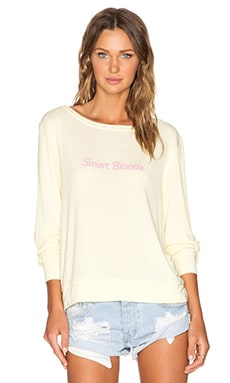 Wildfox Couture Smart Blonde Baggy Beach Jumper in Blonde