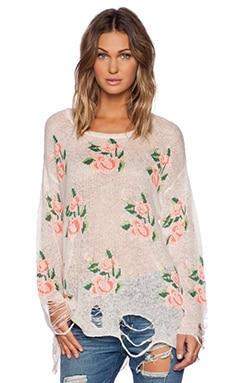 Wildfox Couture Prairie Rose Sweater in Georgia Peach