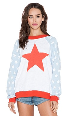 Wildfox Couture For President Sweater in Clean White