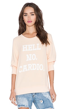 Wildfox Couture No Cardio Sweater in Lox