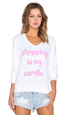 Wildfox Couture Cardio Shopping in Clean White