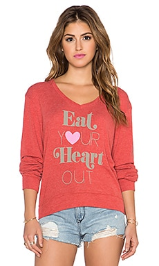 Wildfox Couture x REVOLVE Eat Your Heart Out V-Neck in India