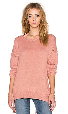 Solid Sweater in Coral Paint