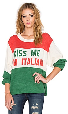 Wildfox Couture Kiss Me I'm Italian Sweater in Vintage Lace