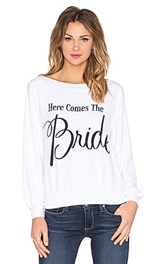 Wildfox Couture Here Comes The Bride Pullover in White Wedding