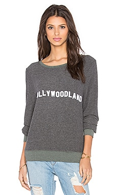 Wildfox Couture Hollywoodland Pullover in Dirty Black