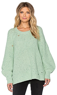 Wildfox Couture Solid Sweater in Mint Chip