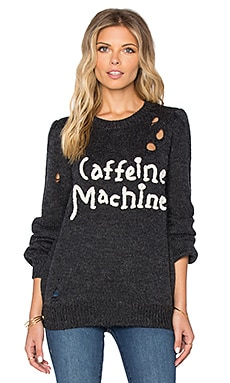 Wildfox Couture Caffeine Machine Sweater in Dirty Black