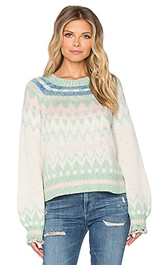 Wildfox Couture Fairisle Fancy Sweater in Multicolored