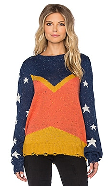Wildfox Couture Wildwoman Sweater in Multicolored