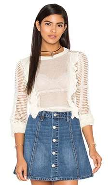Wildfox Couture Solid Sweater in Peal