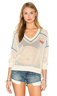 Wildfox Couture Rad Embroidery Top in Natural Ground