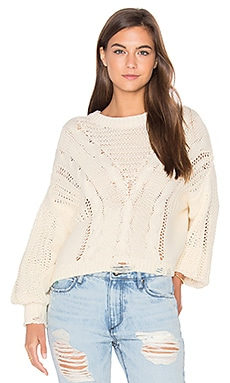 Wildfox Couture Solid Sweater in Vanilla Latte