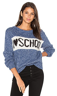 School Holiday Sweater in Monday Blues