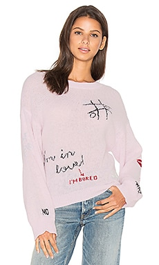 Girls Room Sweater en Pouty Pink
