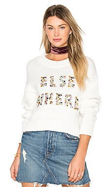 Elsewhere Sweater in Clean White