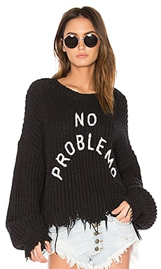 No Problemo Sweater in Clean Black