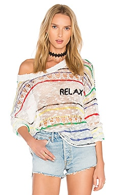 Фото - Свитер relax - Wildfox Couture белого цвета