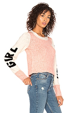 Фото - Свитер girl power - Wildfox Couture розового цвета