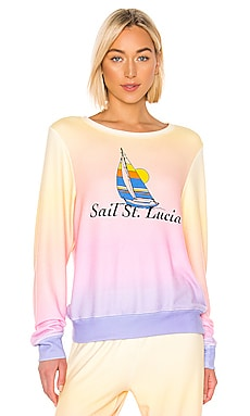 JERSEY GRÁFICO SAIL ST. LUCIA BAGGY BEACH Wildfox Couture $118