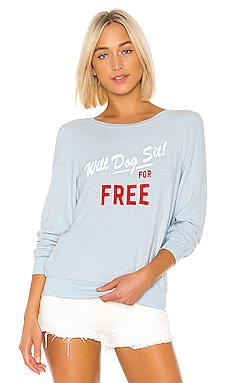 SWEAT DOG SIT BAGGY BEACH Wildfox Couture $59