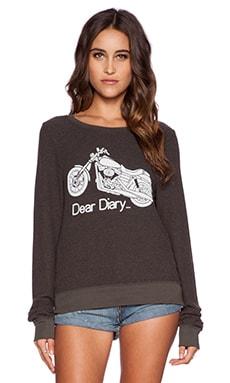Wildfox Couture Revolutionist Sweatshirt in Vintage Black
