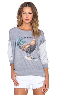 Wildfox Couture Chicks Dig 'Em Sweatshirt in Vintage Lace