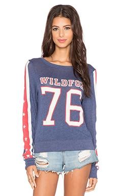 Wildfox Couture Est. 1776 Sweatshirt in Opium Blue