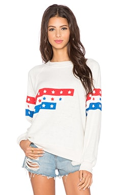 Wildfox Couture U.S. Racer Sweatshirt in Vintage Lace