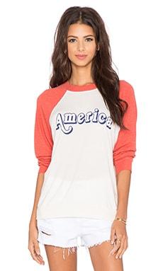 Wildfox Couture Vintage America Sweatshirt in Valentine
