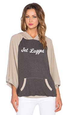 Wildfox Couture Jet Lagged Hoodie in Dirty Black