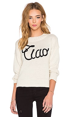 Wildfox Couture Ciao Bella Sweatshirt in Vintage Lace