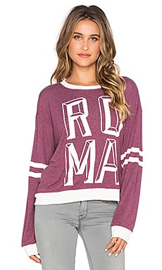 Wildfox Couture Roma Sweatshirt in Bordeauax
